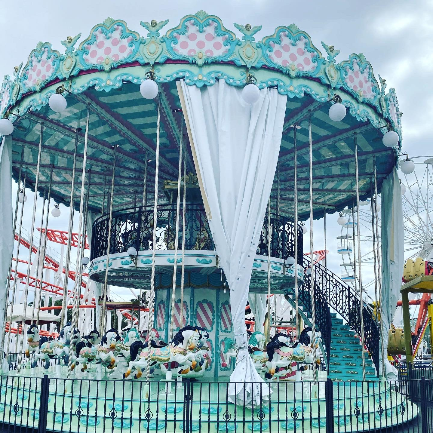 Theme Park Carousel by 13 Weeks Travel
